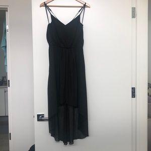 GUC- BCBG Generation hi-lo dress- black metallic